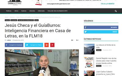 Jesús Checa, autor del GuíaBurros: Inteligencia financiera, para Casa de Letras